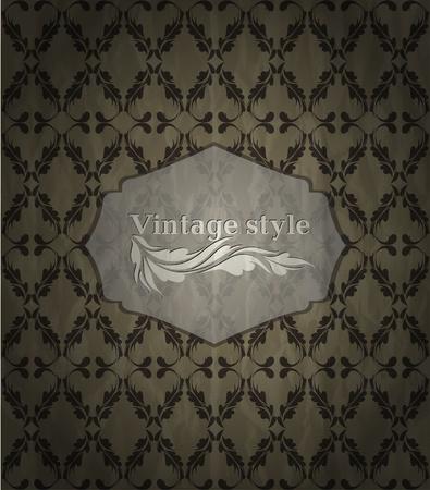 Seamless wallpaper pattern dark