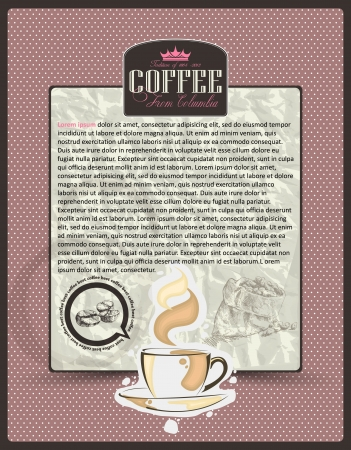 Coffee design template menu or banner or label Vector