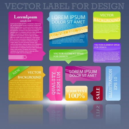Abstract template design for business background. Colorful cubes with ribbons with place for text. Grass, water drops and sun shine for fresh business design. Illustration