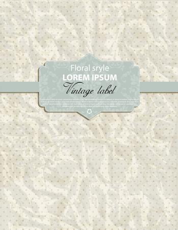 Vintage card design for menu or invite on wedding Vector