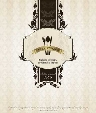 Restaurant menu design in vintage style Vector