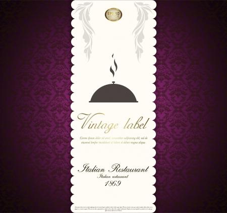 vintage design template for menu