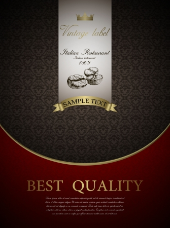 royal rich style: vintage design template Restaurant menu design
