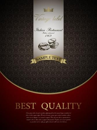 royal rich style: vintage design template Restaurant menu design