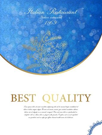 Vector bokeh card with blue silk Stock Vector - 17031729
