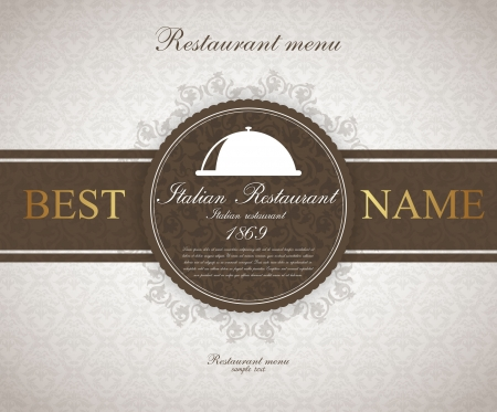 Restaurant menu design vintage Vector.