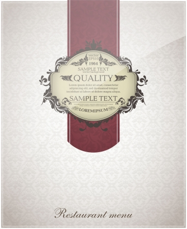 Restaurant menu design vintage Vector.  Vector