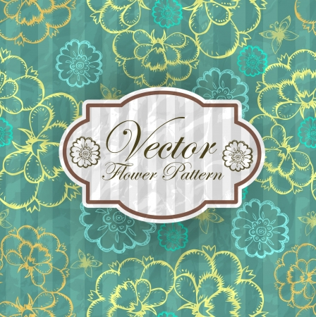 Abstract Elegance Seamless pattern with floral background vintage style Vector