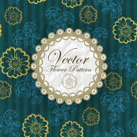 Abstract Elegance Seamless pattern with floral background vintage style Stock Vector - 17031777