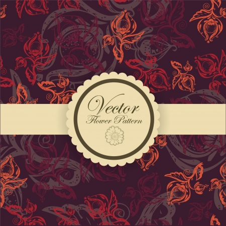 Abstract Elegance Seamless pattern with floral background vintage style Stock Vector - 17031529