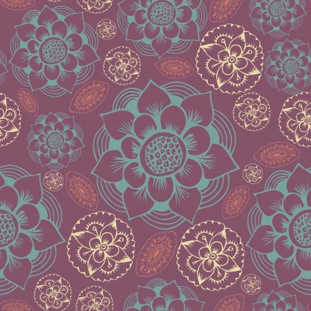 Abstract Elegance Seamless pattern with floral background vintage style Stock Vector - 17031447