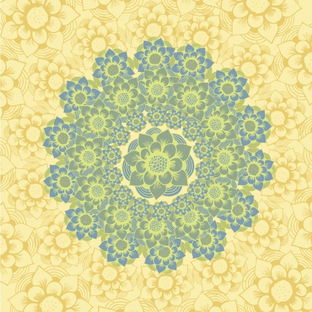 Abstract Elegance Seamless pattern with floral background vintage style Stock Vector - 17031751