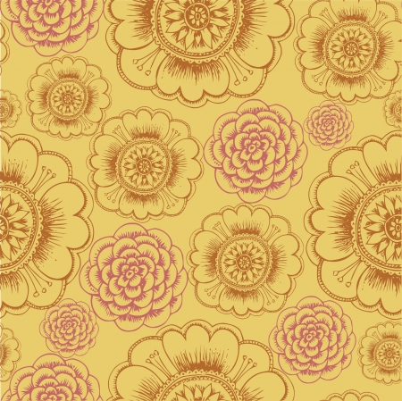 Abstract Elegance Seamless pattern with floral background vintage style Stock Vector - 17031531