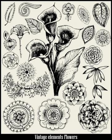 retro set Flower