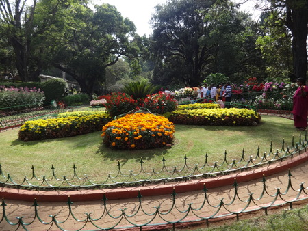 Awesome entrance snap of rose garden, ooty, india. Editorial