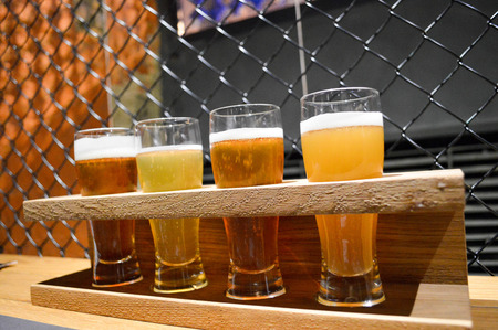 Tasting of four types of craft beer