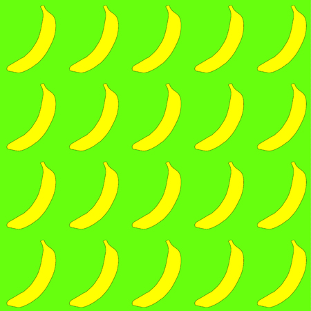 The pattern is seamless from tropical, African, yellow, bright, tasty, juicy, fresh, hand drawn bananas with a black stroke on a white background.