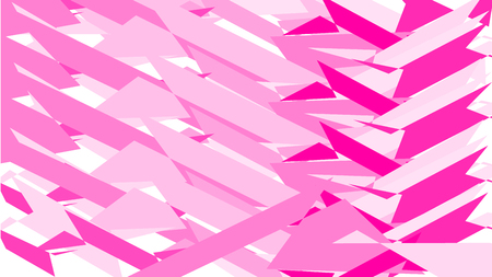 Simple background, texture of minimalistic pink abstract different carved sticking sharp different bright lines, geometric shapes. Vector illustration. Illustration
