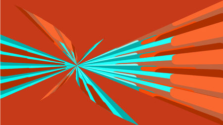 Red texture, simple background of minimalist abstract beautiful multicolored bright geometric shapes in the form of a spiral, a butterfly tunnel, a flower. Vector illustration.