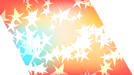 Texture of a beautiful festive polygonal cut-off cosmic magical multi-colored colored far-away bright motley galactic stars and copy space on a white background. The background.