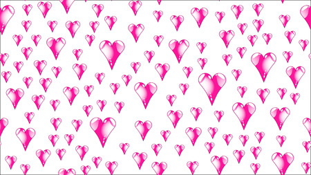 Texture pattern seamless from pink red glass iridescent beautiful loving tender bright colorful multicolored heartfelt festive favorite unique luxurious hearts. Back background Vector illustration. Illustration