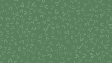 Texture seamless pattern of green plant branches with leaves and stems of natural beautiful malt used in brewing to make beer on a green background. Vector illustration.