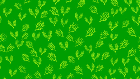 The texture is a seamless pattern of a variety of multicolored natural flowers of hops and malt for beer hops and malt ingredient for brewing. Pattern for the label. Vector illustration. Illustration