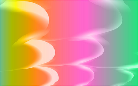 Abstract texture of unusual beautiful luminous light airy bright waves of lines of energetic magical magical multicolored overflowing. The background. Vector illustration.