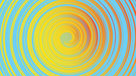The texture is yellow abstract, the background of cosmic energetic magical beautiful bright multicolored bubbles bubbles circles lines stripes spirals and geometric shapes. Vector illustration.