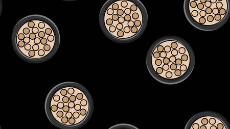 texture seamless pattern on a black background, bronzer for creating a tan on the face, skin beauty, artificial tan for photo shoots, solarium effect. Vector illustration.