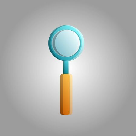 Beautiful medical magnifying glass icon for search and approximation on a white background.