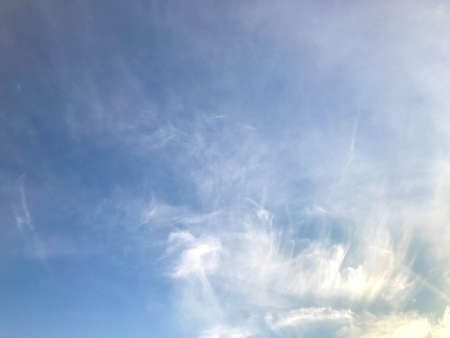 blue sky with white clouds. natural phenomenon, beautiful clouds. watercolor sky, inspiration like brush painted sky. amazing natural picture.