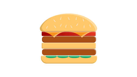 Burger icon. Flat illustration of burger vector icon for web isolated on white.