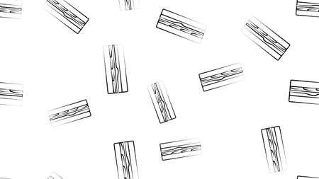 Doodle Sandwich seamless pattern background. Çizim