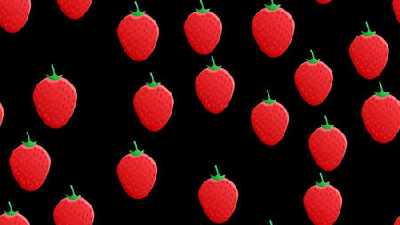 Strawberry seamless pattern isolated on pink background. Random strawberry pattern. Easy to edit, ready to print, suitable for background, wallpaper, printing, clothes, wrapping, textile, fabric etc. 向量圖像