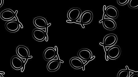 Pretzel pattern. Design for Oktoberfest. Perfect design for posters, cards, textile, web pages. Ilustração