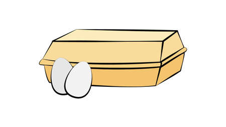 Vector illustration of egg isolated on white background for kids coloring activity worksheet / workbook. Ilustracja