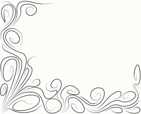 Hintergrund mit schwarzen Locken abstrakt