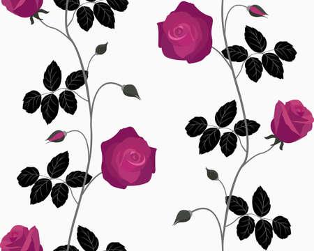 Nahtlose mit roten Rosen Illustration