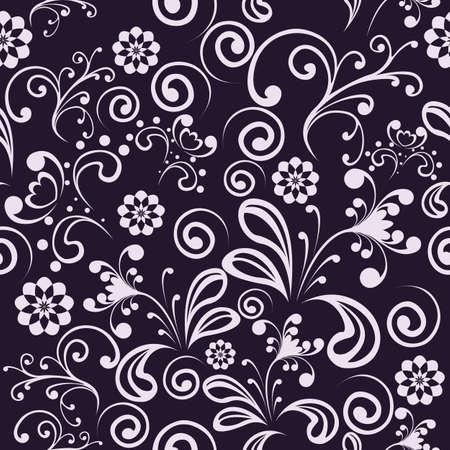 Nahtlose mit schwarzen und wei�en Blumen