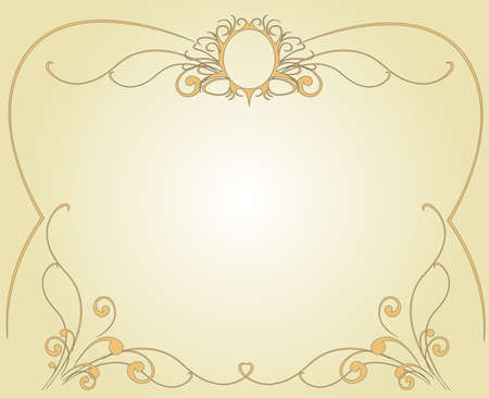 Frame in easy golden tones
