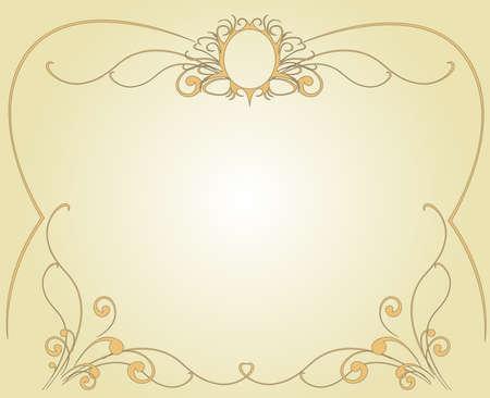 Gestell aus leicht goldenen T�nen Illustration