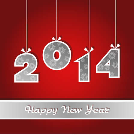 New Year s card 2014 Vector