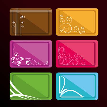Business cards Illustration
