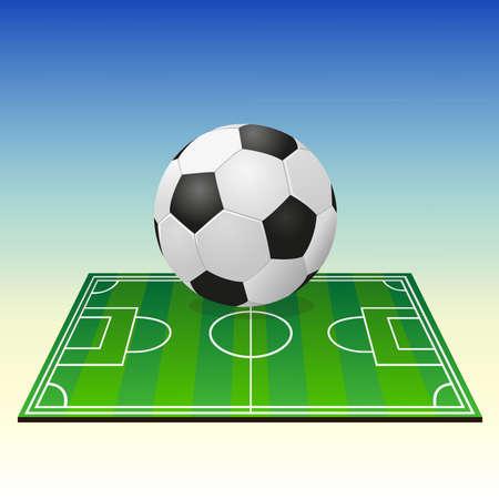 Soccerball auf einem Fu�ballfeld