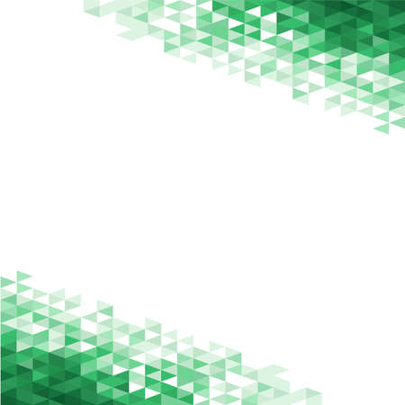 Abstract background with green crystals Illustration