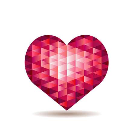 Herz aus roten Kristallen Illustration