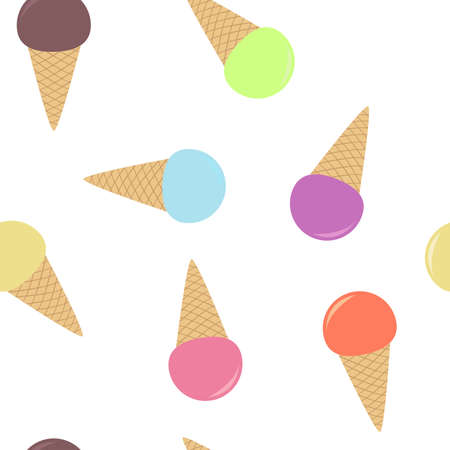 Seamless pattern from multi-colored ice cream Stock Vector - 29904265