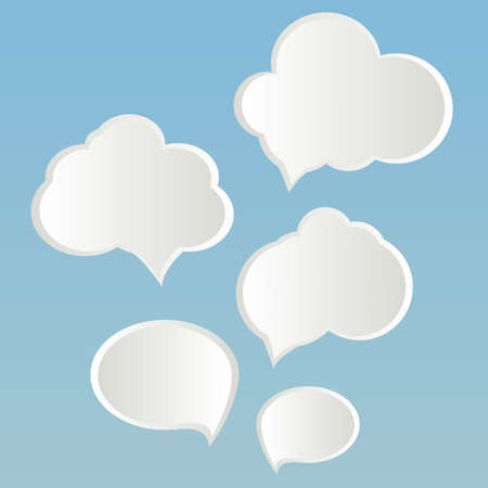 no talking: Clouds of thoughts