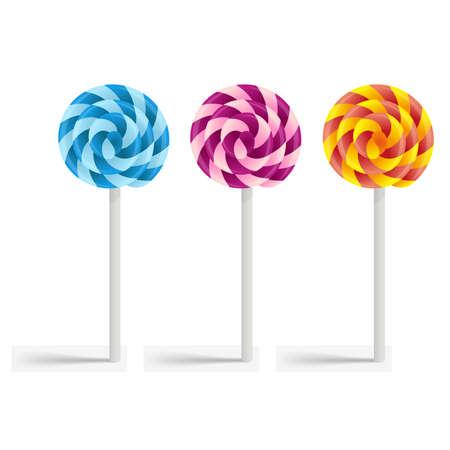 Multi-colored lollipops Illustration